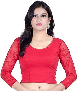 Best red blouse black saree Reviews