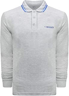 Lambretta Mens Casual Long Sleeve Tipped Pique Polo Shirt Top