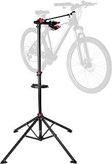 Ultrasport Caballete para bicicleta Expert, robusto caballete para bicicleta, también para bicicletas de montaña, caballete para la reparación de bicicletas de toda clase hasta 30 kg, color negro