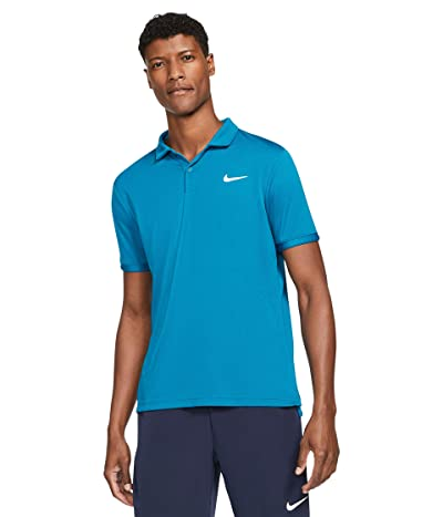 Nike Nike Court Dry Victory Polo (Green Abyss/White) Men