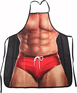 ABCTen Sexy Apron Novelty Muscle Man Kitchen Funny Creative Cooking Grilling Baking Party Apron Gift For Men