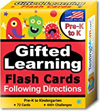 TestingMom.com Gifted Learning Flash Cards – Following Directions for Pre-K – Kindergarten – Educational Practice for CogA...