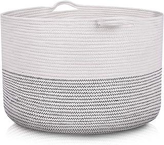 "938e05c6aac ClassyStylez XXX Large Rope Blanket Cotton Storage Basket 21.7"" x 21.7"" x  13.8"""