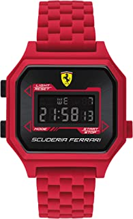 Ferrari Men's Digidrive Quartz Watch with Silicone Strap, Red, 20 (Model: 0830746)