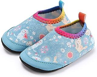 Ceyue Kids Swim Water Shoes Boys Girls Toddler Barefoot Aqua Sock for Beach Pool Surfing Walking Unisex