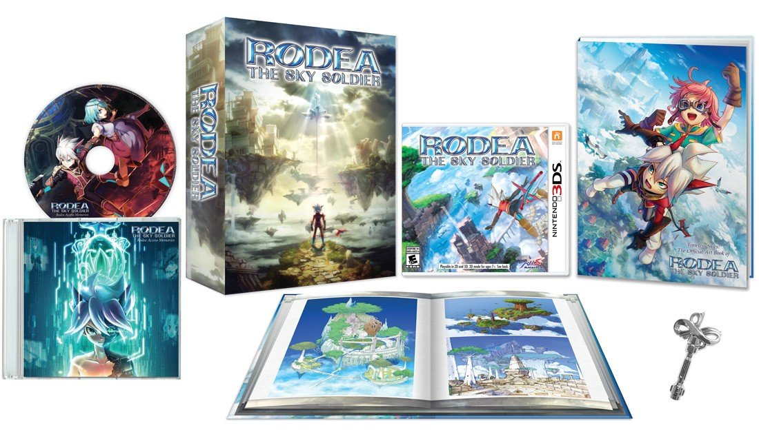 Directly managed store Rodea The Sky Financial sales sale Soldier Collectors edition Bonus Nintendo 3DS W K