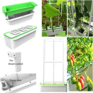 Big Smart Indoor Hydroponics Growing System Self Watering Planter for Big Climbing Vegetables with Built-in Pump and Smart Reminder Plus 60