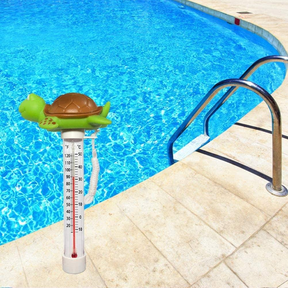 Aquariums Shatter Resistant Hot Tubs Spas Jacuzzis Floating Pool Thermometer Easy to Read Baby Bath Water Flamingo Cartoon Large Size Thermometer with String for Swimming Pool