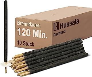Hussala Diamond Antorchas de Cera Duración de combustión : 120 min [10 Unidades]