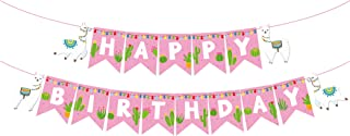 Llama Birthday Banner,Llama Banner,Llama Party Supplies,Llama Birthday Decoration for Girls,Boys,Kids,Home,Classroom,Baby Showers,1st Birthday