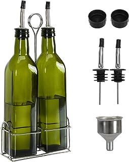 Aozita 17oz Glass Olive Oil Bottle Set