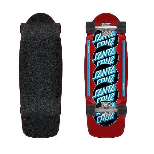 Santa Cruz Cruiser Skateboard Complete Classic Dot Stack Red 10.44