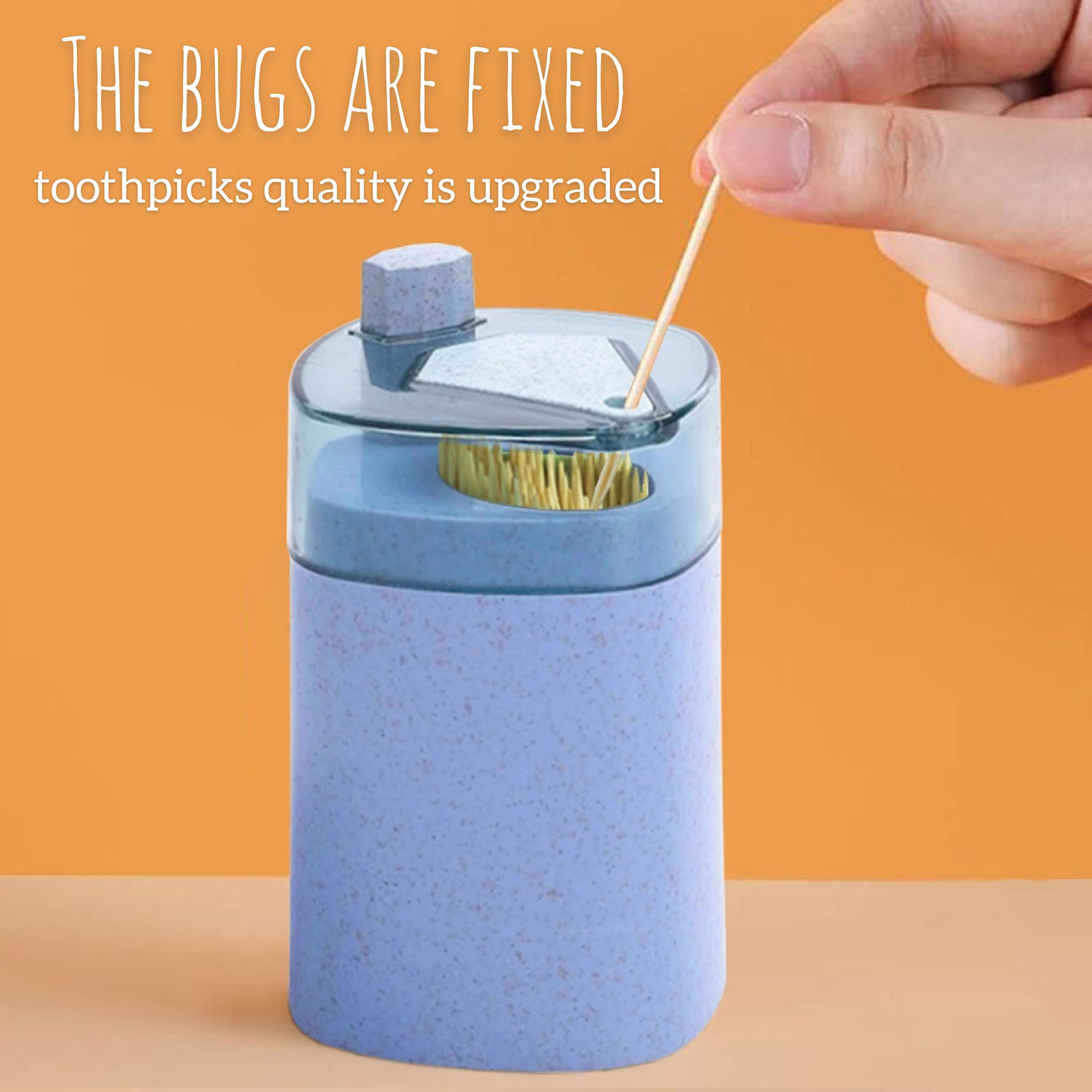 Zahnstocherspender f/ür K/üchenzubeh/ör f/ür das Restaurant zu Hause NIONE 2PCS QuickPick Automatic Toothpick Box Pop-up Zahnstocherhalter Grau