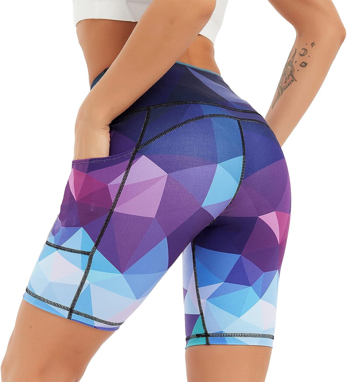 COOLOMG Women Biker Shorts High Athletic Waist Store Workout Runn Yoga Direct stock discount