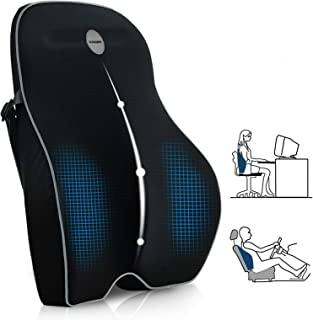 Villsure Lumbar Support Pillow, Memory Foam Back Cushion Pillow for Office Chair,Computer/Car Seat and Wheelchair with Bre...