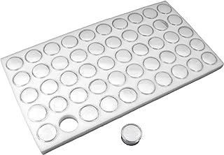 White Gem Jar Jewelry Tray Insert Gemstone Display Clock Parts Unit