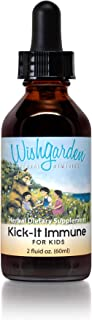 WishGarden Herbs - Kick-It Immune For Kids, Organic Herbal Immune System Supplement, Specially Formulated for Kids (2 oz D...