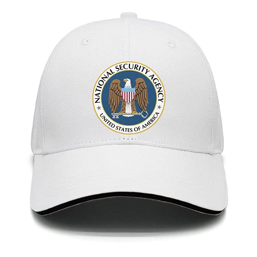 Mens Womens NSA-National-Security-Agency-Logo- Casual Adjustable Summer Hat