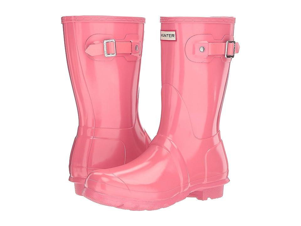 Hunter Original Short Gloss Rain Boots (Pink) Women