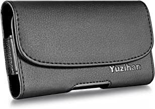 Yuzihan Fit for iPhone 7 iPhone 6S 6 8 Belt Holster Belt Pouch Premium Leather with Belt Clip Belt Loop Fit with Otterbox Defender Case/Lifeproof Case/Hybrid Armor Case/Battery Case On