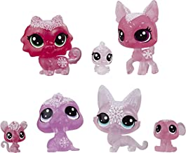 Littlest Pet Shop Frosted Wonderland Pet Friends Toy, Pink Theme, Includes 7 Pets, Ages 4 & Up