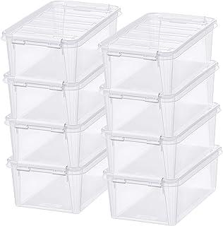 Lot de 8 Petites Boîtes de Rangement - Rangez Votre Maison avec Style et Praticité - Plastique - Transparent - Classic 5 -...