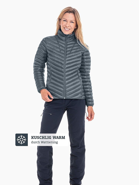 Schöffel Thermo Jacket Annapolis1, gesteppte Thermojacke mit hochschließendem Kragen, wärmende und atmungsaktive Skijacke Damen stormy weather