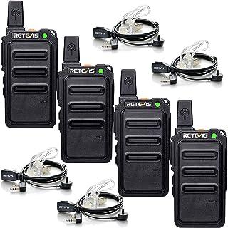 Retevis RT619 Walkie Talkie Profesional, PMR 446 sin Licencia 16 Canales, VOX 50CTCSS/210DCS, Mini Walkie Talkie Recargabl...