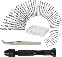 mini taladro manual KAKOO 51pcs taladro manual modelismo de herramientas modelismo naval de brocas de precisión de pinzas modelismo, plastico con caja de almacemiento de regalo