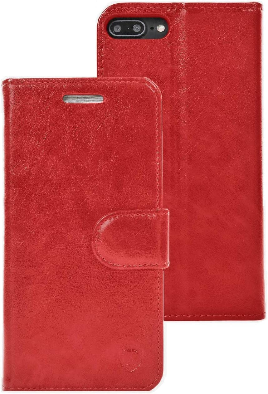 RadiArmor Anti-Radiation Case - Compatible with iPhone 7 Plus/iPhone 8 Plus – Lab Certified EMF Protection (Red)