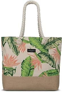 Beach Bag Tote Women & Men Made of Cotton Canvas & Jute - Swim Bags