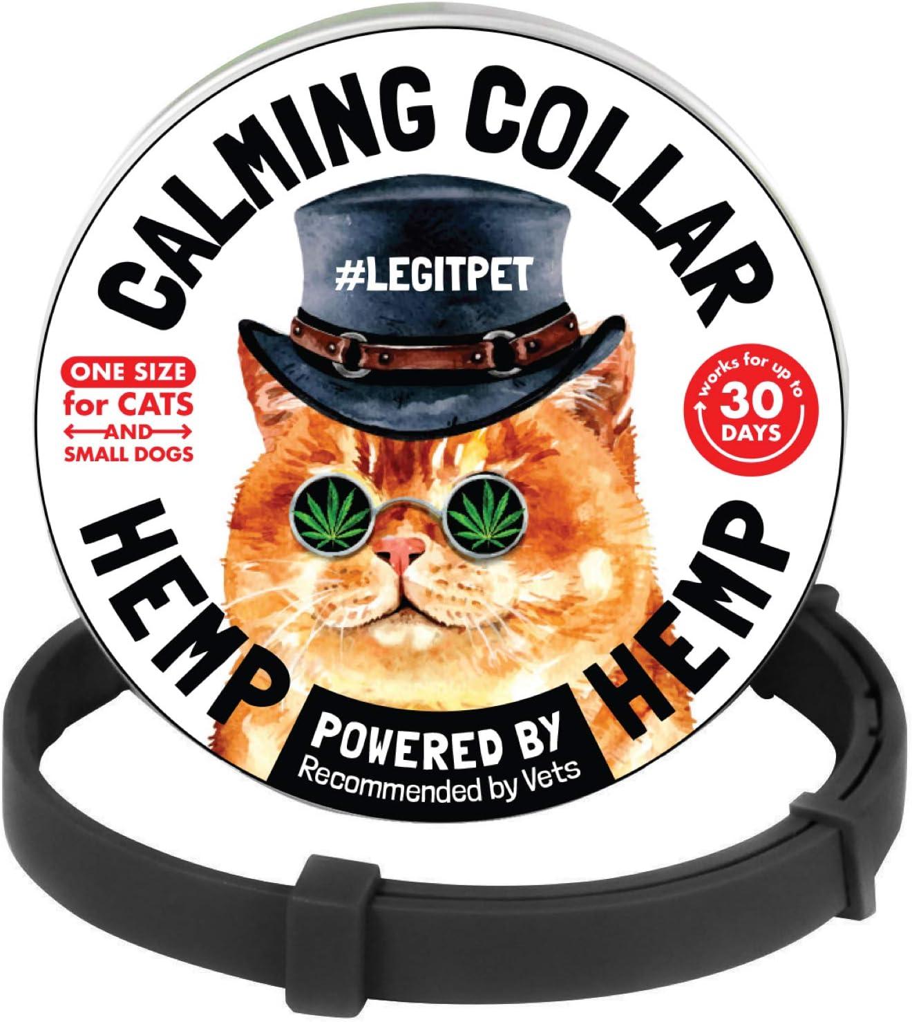 LEGITPET High Super popular specialty store quality new Cat Calming Collar with Reduce Hemp Stress N -