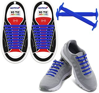 No Tie Shoelaces for Kids and Adults - Best in Sports Fan Shoelaces - Waterproof Silicone Flat Elastic Athletic Running Shoe Laces with Multicolor for Sneaker Boots Board Shoes and Casual Shoes