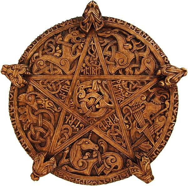 Dryad 设计大型打结五角星墙牌匾木质饰面