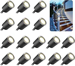 Recessed LED Deck Light Kits with Black Protecting Shell φ32mm,SMY In Ground Outdoor Landscape Lighting IP67 Waterproof,12V Low Voltage for Garden,Yard Steps,Stair,Patio,Floor,Kitchen Decoration