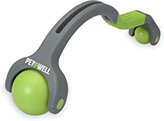 PetWell Dual Point Handheld Massage Roller for All Size Pets (Dogs, Cats)