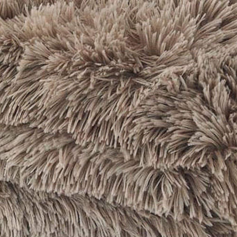 Catherine Lansfield Couverture Ultra Douce–Noir, Polyester, Silver, 25 x 32 x 25 cm Naturel