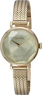 RumbaTime Women's 'Hudson Gem Weave' Quartz Stainless Steel Casual Watch, Color:Gold-Toned (Model: 27501)