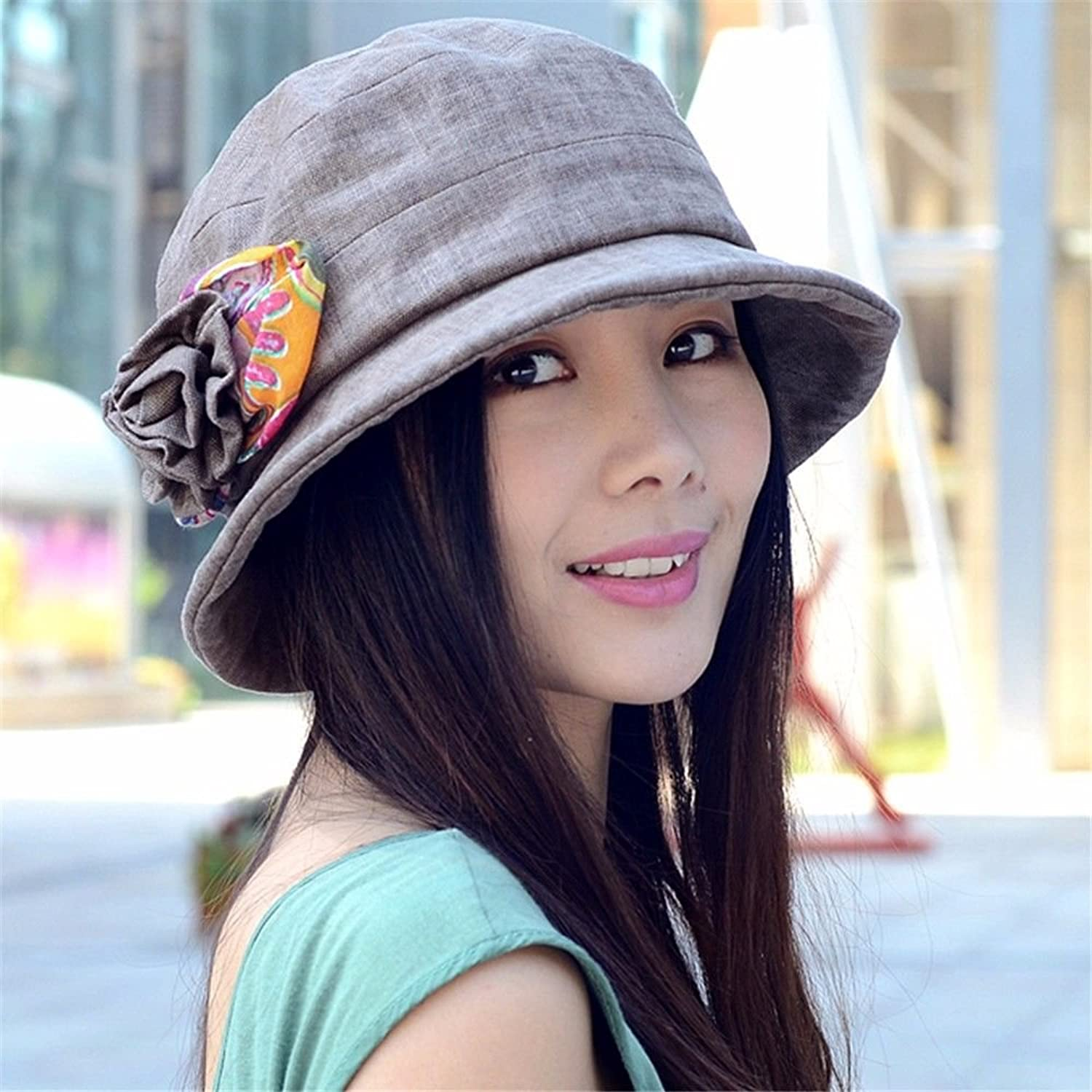 Women's Spring and Autumn Elegant and Leisure Cotton and Hemp hat (Size Adjustable)