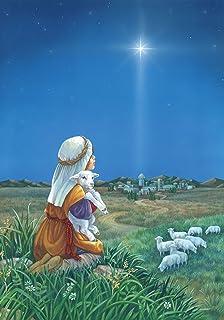 Toland Home Garden Shepherd's Watch 28 x 40 Inch Decorative Sheep Field Christmas Star Jesus Birth House Flag - 109374