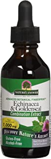 Nature's Answer Enchinacea & Goldseal | Supports a Healthy Immune System | Super Concentrated Pure Extract | Alcohol-Free, Gluten-Free, Vegan & Kosher Certified 2oz