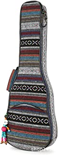 Ukuee Waterproof Bohemia Style Ukulele Bag Ukulele Case with 10MM Sponge Padding and Pendant(Soprano)