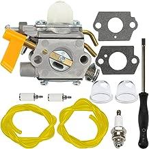 Dalom C1U-H60 Carburetor + Adjustment Tool for Ryobi Homelite 25cc 26cc 30cc String Trimmer Brushcutter 985624001 308054003 985308001 3074504
