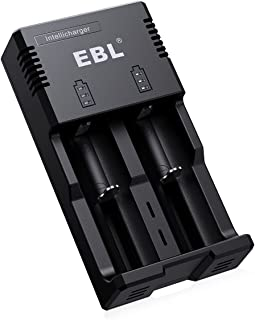 EBL 18650 Battery Charger Intellicharger with iQuick Technology Individual Fast Charger for AA AAA C 18650 16340 14500 266...