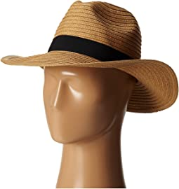 PBF7300 Paper Braid Fedora w/ Bow Band