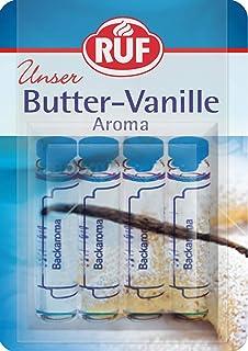 RUF Backaroma Butter-Vanille zum Aromatisieren von 500g Teig oder 500ml Flüssigkeit, 20er Pack 20 x 4 x 2g Packung