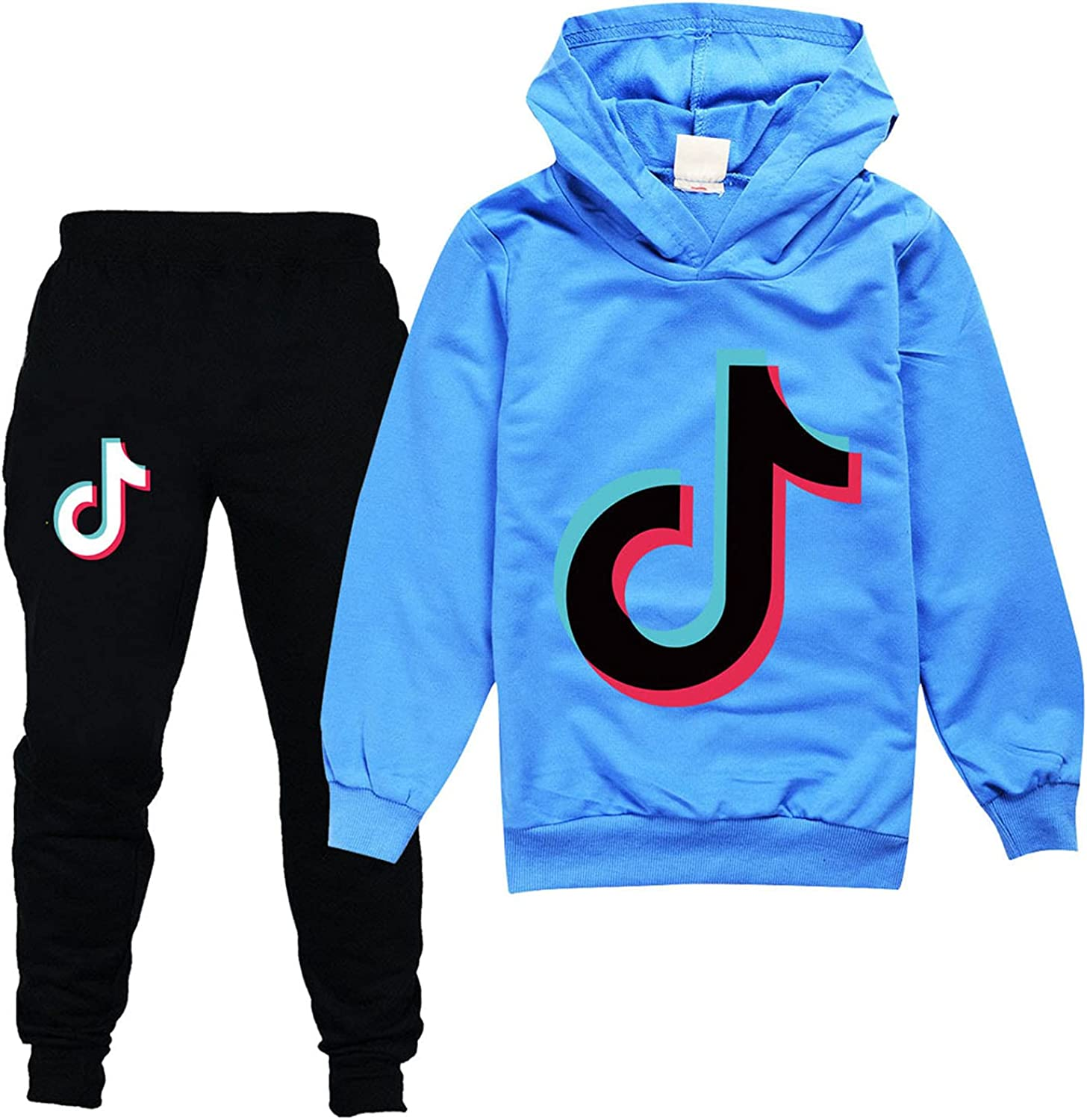 Boys And Girls Two-Piece Hoodie Letter Print Pullover Children's Trousers And Sweatshirts Set