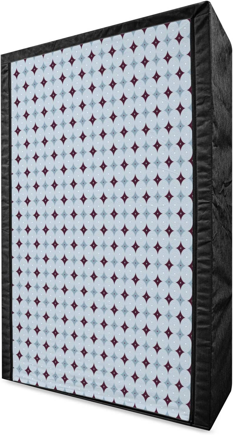 Popular brand in the world Lunarable Mid Century Modern Portable Ro Nested Limited time trial price Fabric Wardrobe