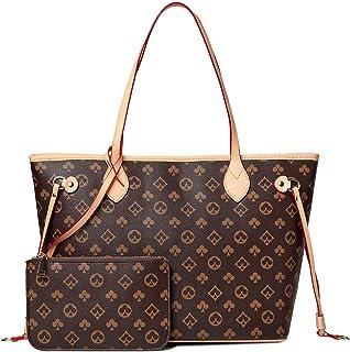 YUESUO Handtaschen Damen Shopper Schultertasche UmhäNgetasche Handtasche Brieftasche Set Tragetasche Groß Damen Tasche Tot...