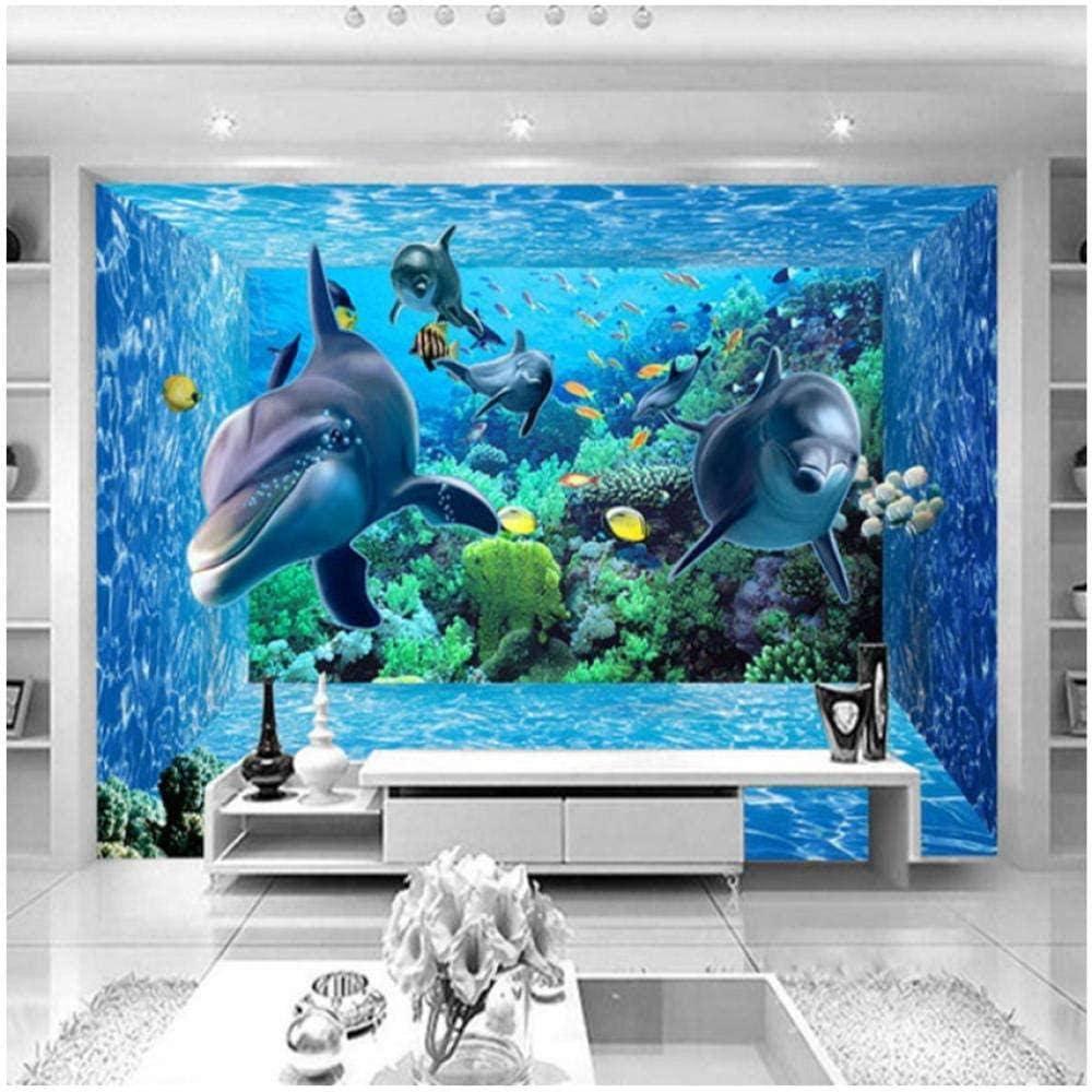Custom 3D Stereo Cartoon Underwater World Wallpaper Max 68% OFF Mural Ranking TOP6 Photo